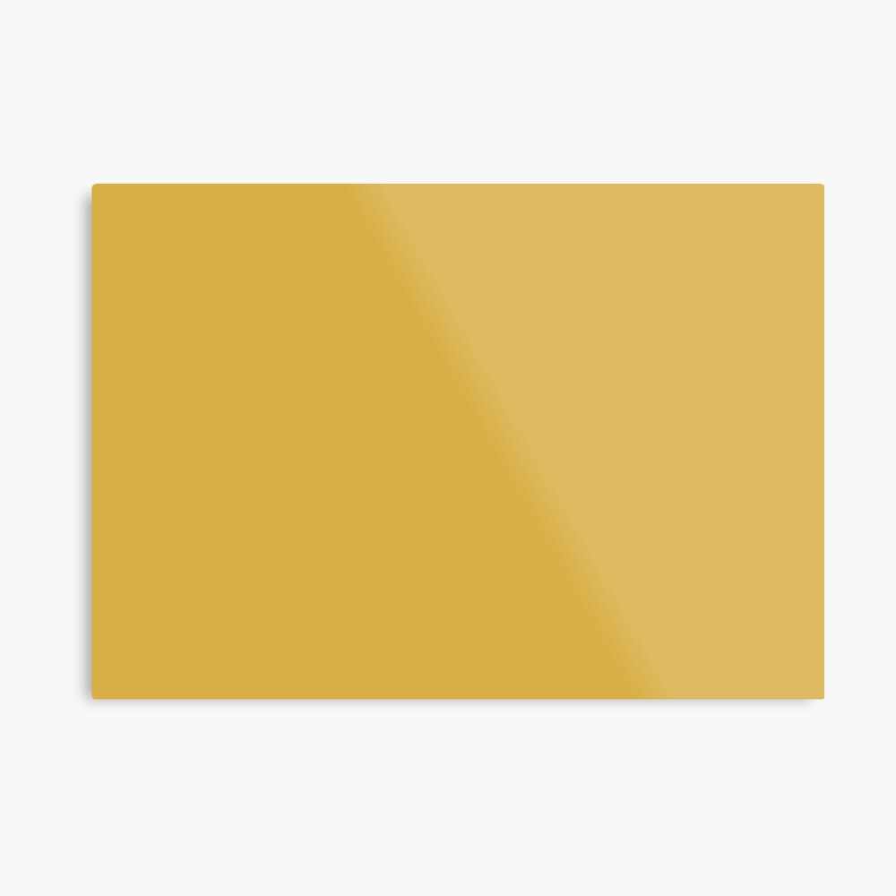 Spicy Mustard 14-0952 TCX | Pantone | Color Trends | Fall Winter 2016 | Solid Colors | Fashion Colors | Metal Print