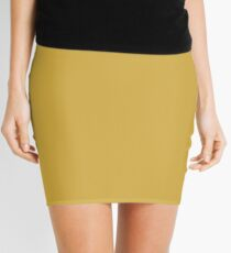 Spicy Mustard | Pantone Fashion Color Fall : Winter 2016 | Solid Color Mini Skirt
