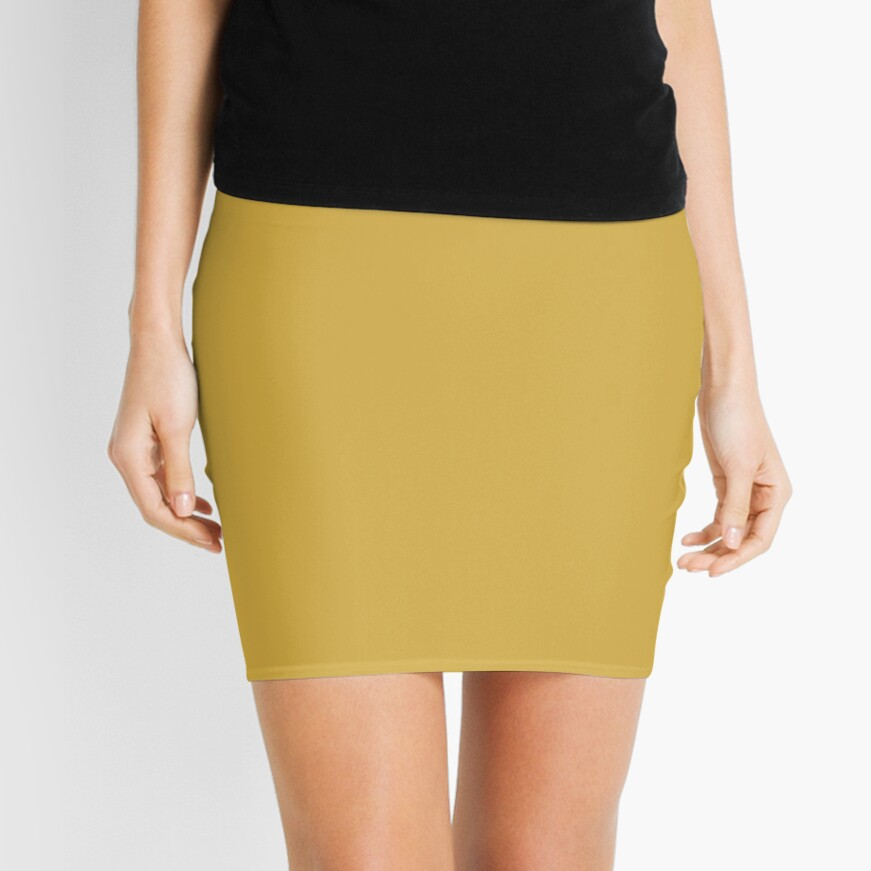 Spicy Mustard 14-0952 TCX | Pantone | Color Trends | Fall Winter 2016 | Solid Colors | Fashion Colors | Mini Skirt