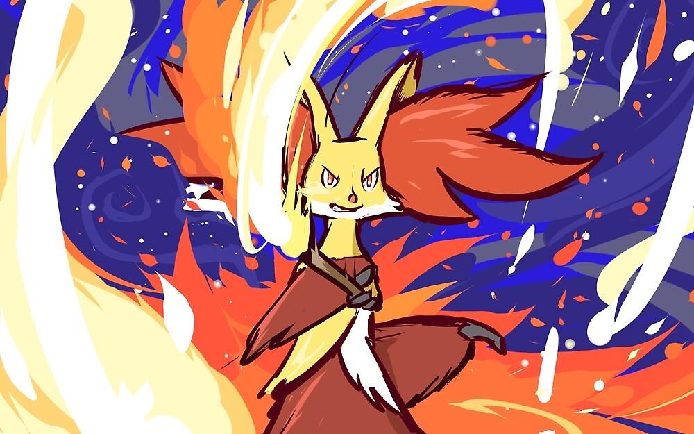 Delphox | Mystical Fire by ishmam