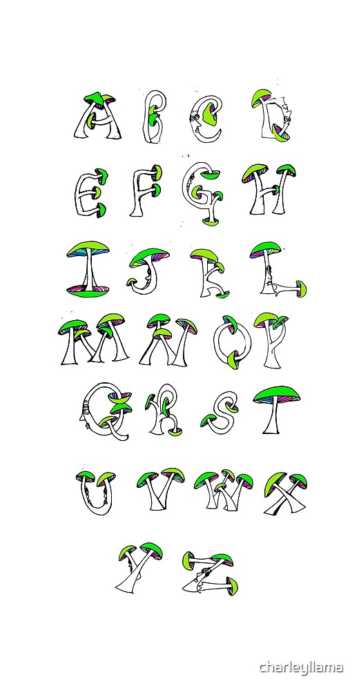 Mushroom Alphabet by charleyllama