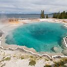 Black Pool at West Thumb Geyser Basin by Yair Karelic
