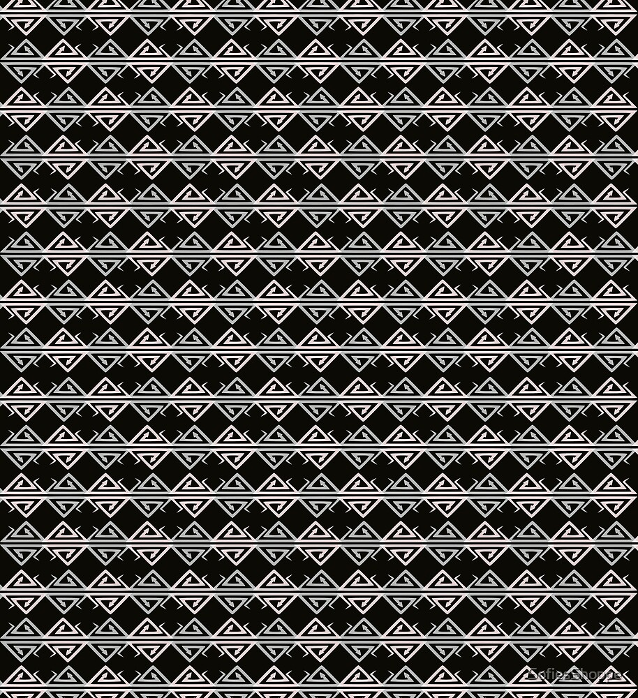 Black Snake Diamond Harlequin Pattern by SofiesShoppe