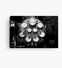 Steam gauges Canvas Print