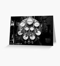 Steam gauges Greeting Card