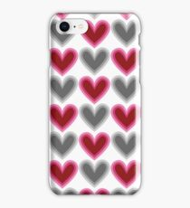 Hearts Beat (Red) Pattern iPhone Case/Skin