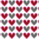 Hearts Beat (Red) Pattern by KristyKate
