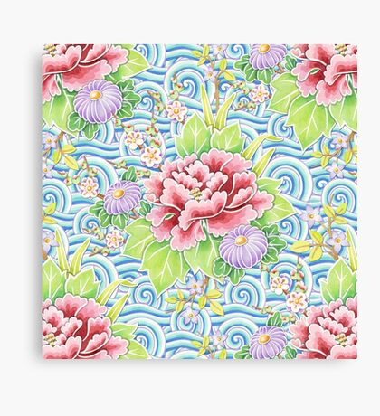 Kimono Bouquet Canvas Print