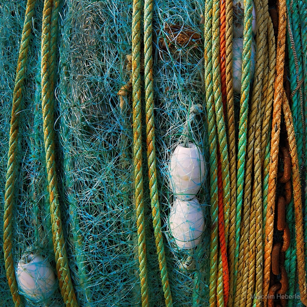 Minimalism #06 ... Fishermen's nets on Reel by Malcolm Heberle