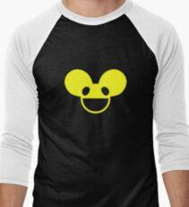 Camiseta ¾ bicolor para hombre Deadmau5 cabeza