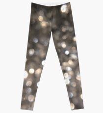 Silver Glitter Splosion Leggings