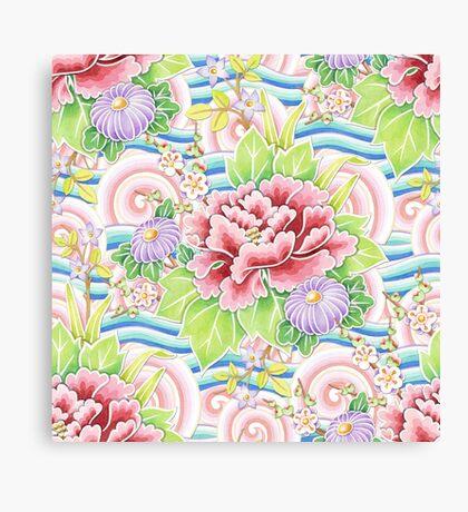 Pastel Kimono Bouquet Canvas Print