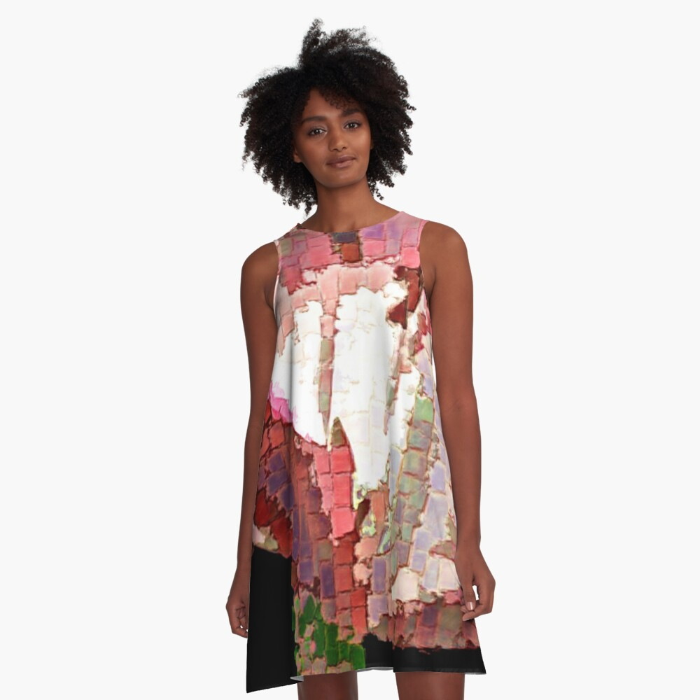 Blooming Mosaic A-Line Dress Front