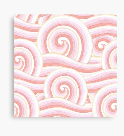Pink Auspicious Waves Canvas Print