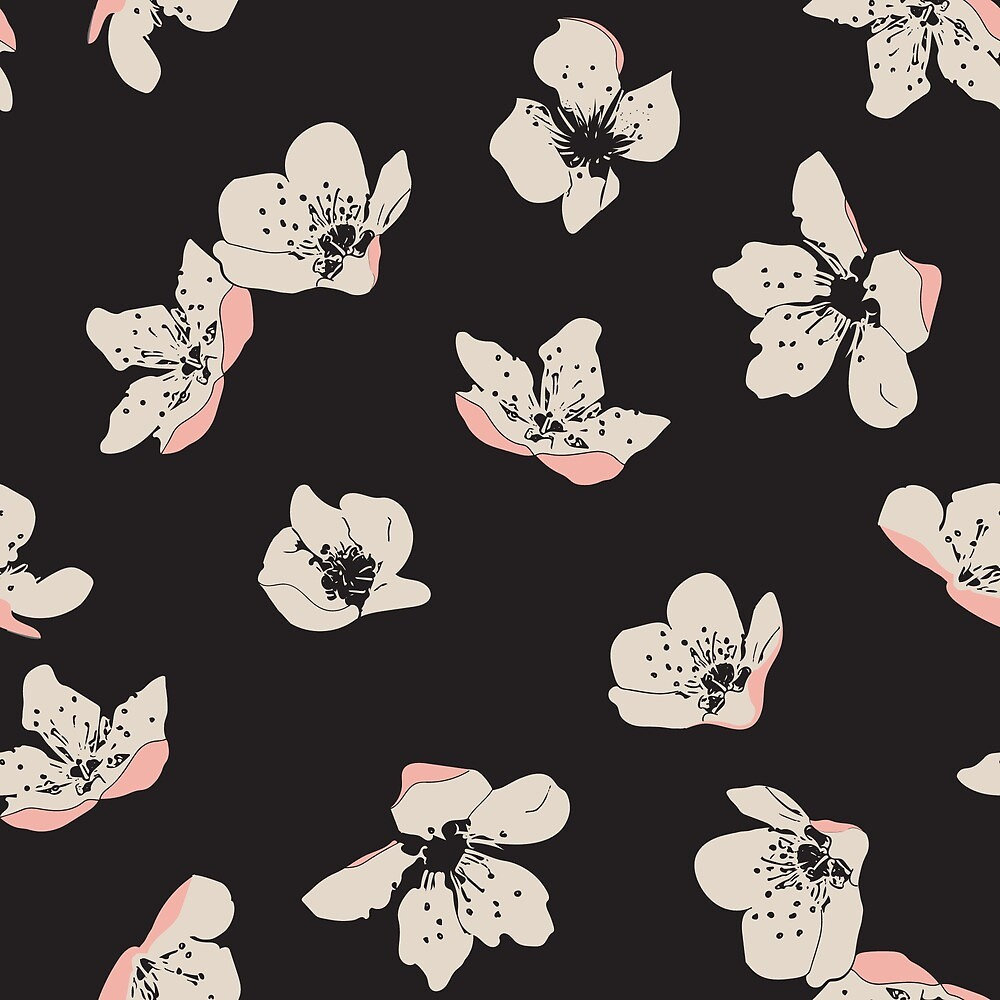 Spring blossom floral pattern by SaryandSaff