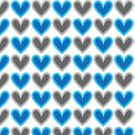 Hearts Beat (Blue) Pattern by KristyKate