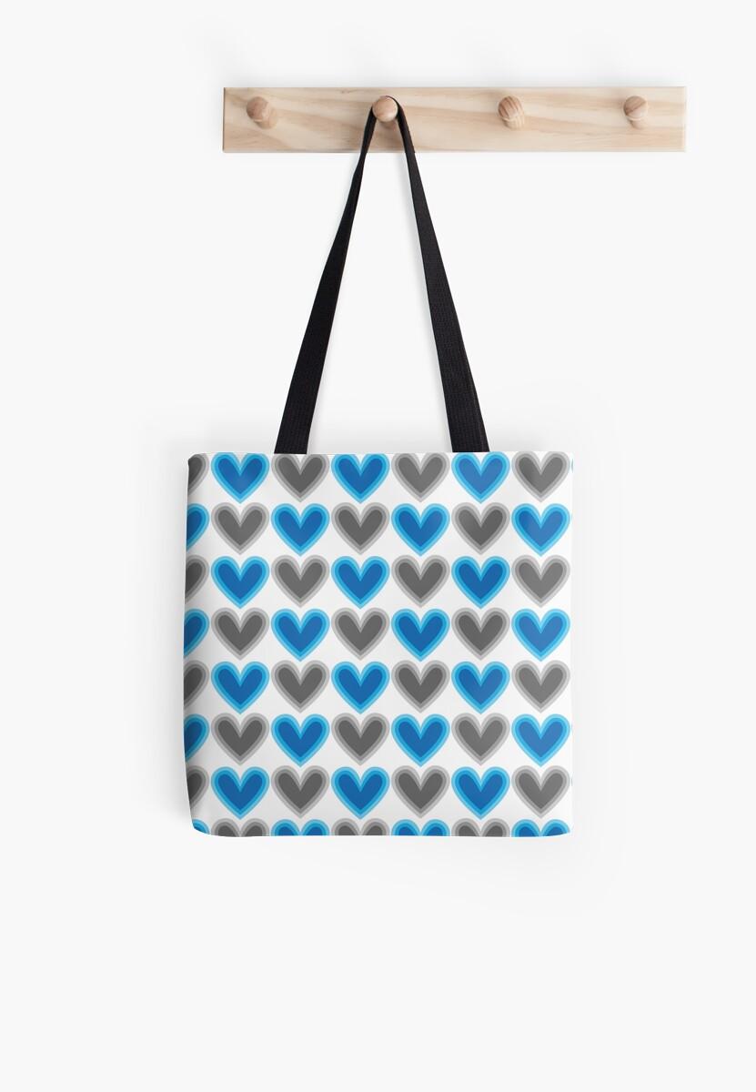 Hearts Beat (Blue) Pattern by KristyKate