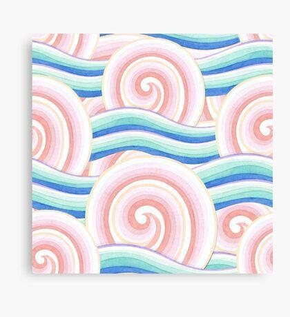 Pink Blue Kimono Bouquet Canvas Print