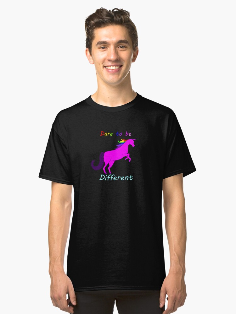 Words of Encouragement from a Unicorn  Classic T-Shirt Front