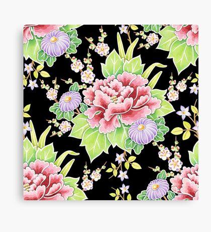 Kimono Bouquet Chintz Canvas Print
