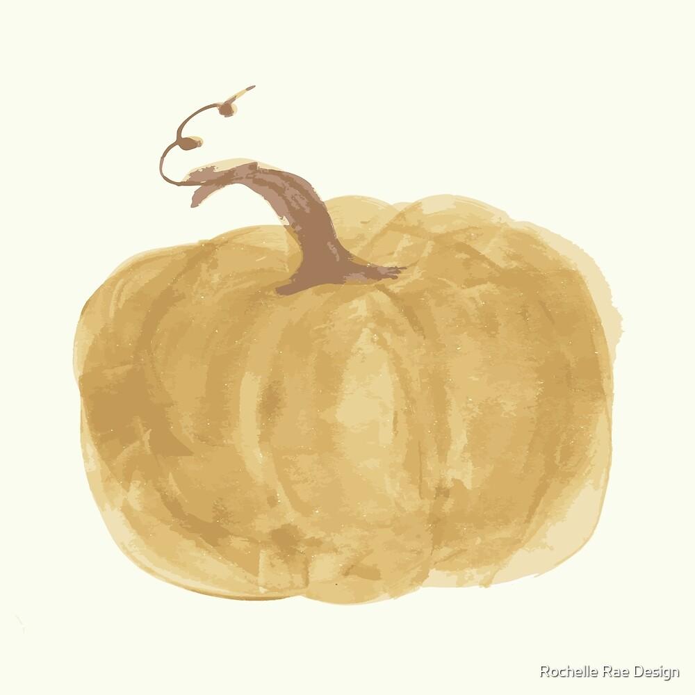 Harvest Pumpkins - Mustard by rochellerae