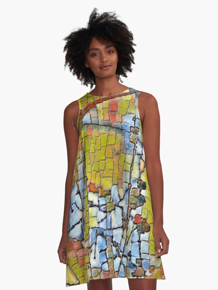 Mosaic Tree A-Line Dress Front