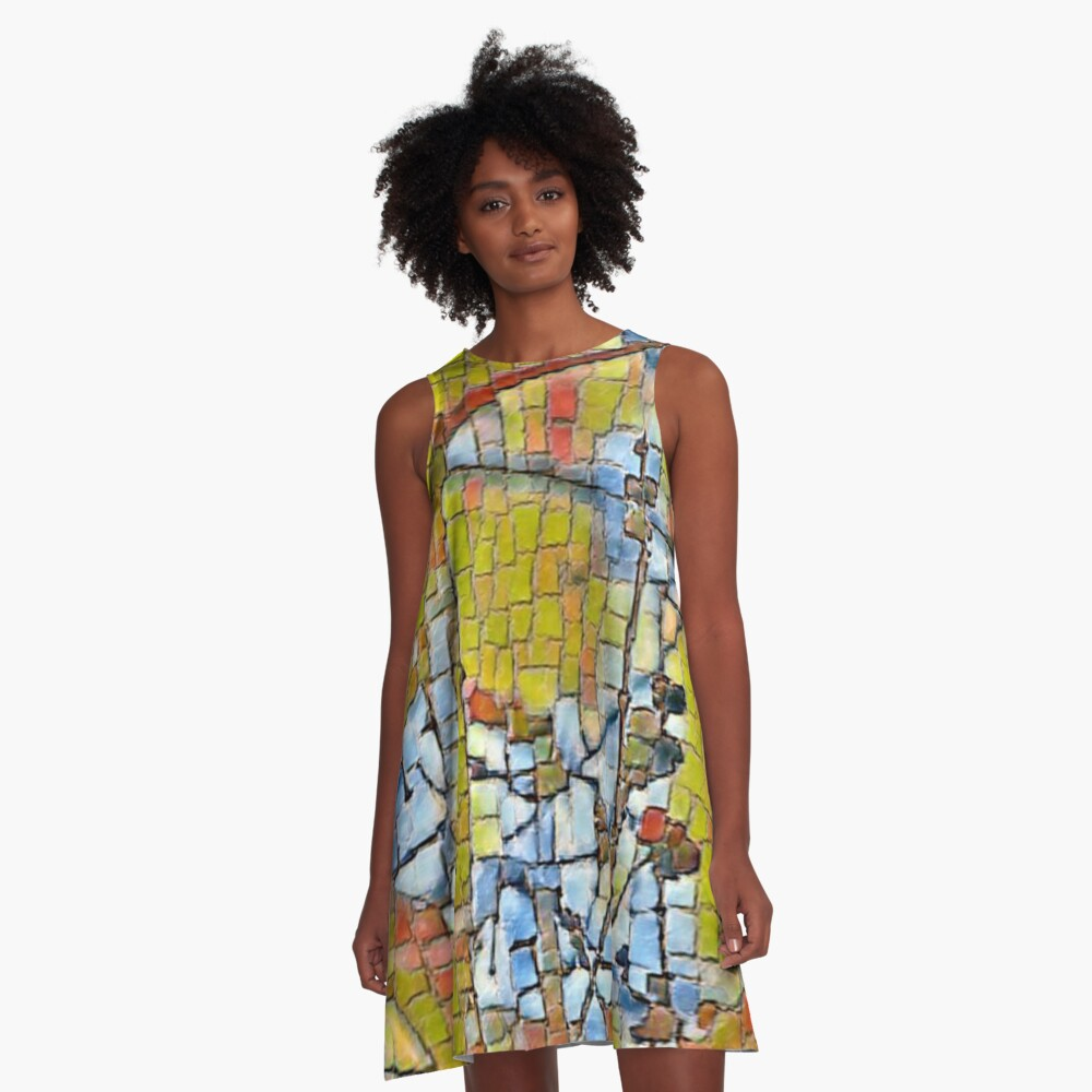 Mosaic Tree A-Line Dress Front