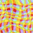 Candy Rainbow Plaid by PatriciaSheaArt