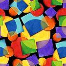 Candy Rainbow Geometric by PatriciaSheaArt