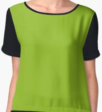 Lime Green | Solid Color Chiffon Top