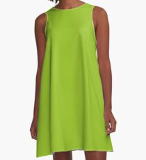 Lime Green | Solid Color A-Line Dress