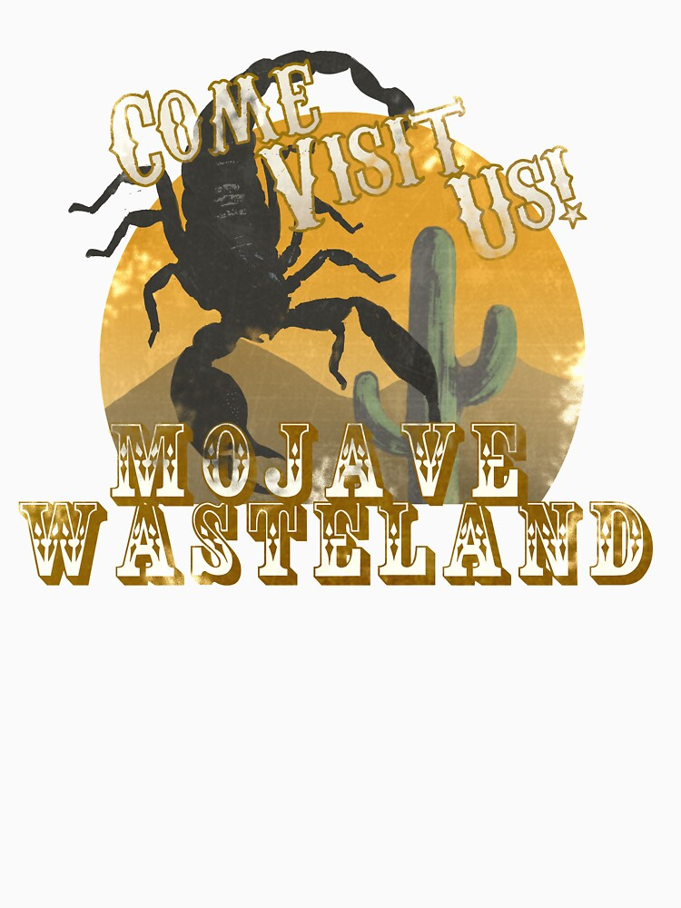Vintage Style Mojave Wasteland Tourist Tee by periculum-dulce