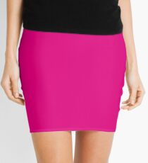 Hot Pink | Solid Color Mini Skirt