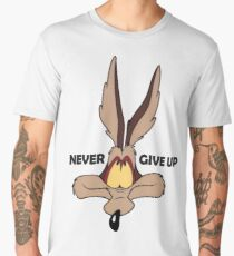 Coyote never give up funny t-shirt Men's Premium T-Shirt