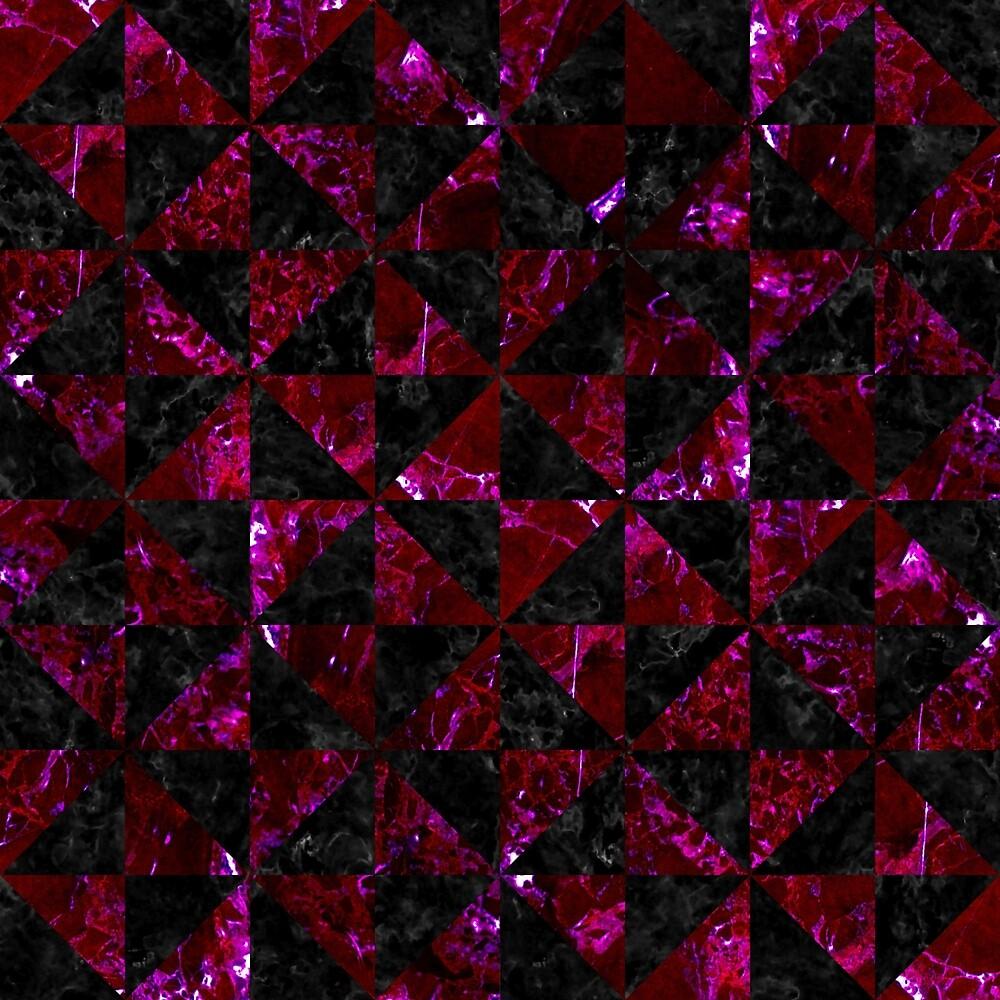 TRIANGLE1 BLACK MARBLE & BURGUNDY MARBLE by johnhunternance