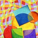 Candy Rainbow Geometric Plaid by PatriciaSheaArt