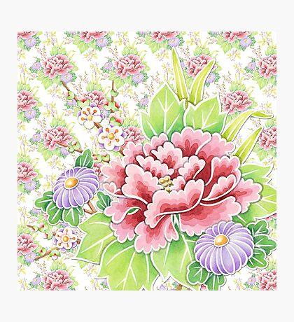 Kimono Bouquet Ditsy Chintz Photographic Print