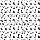 Hummingbird Pattern   Vintage Bird Patterns   Humming Birds   Black and White    by EclecticAtHeART