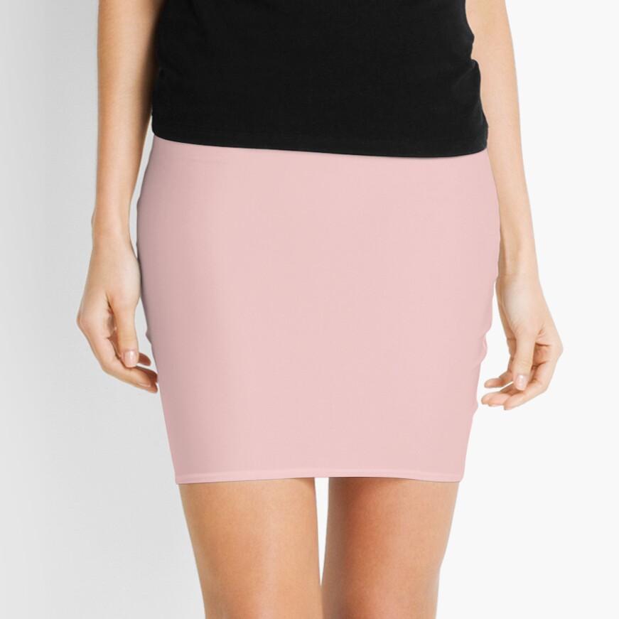 Rose Quartz 13-1520 TCX | Pantone Color of the Year 2016 | Pantone | Color Trends | Solid Colors | Fashion Colors | Mini Skirt