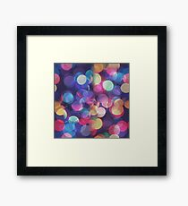 Bokeh Abstract Pattern Texture Framed Print