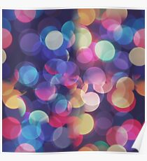 Bokeh Abstract Pattern Texture Poster