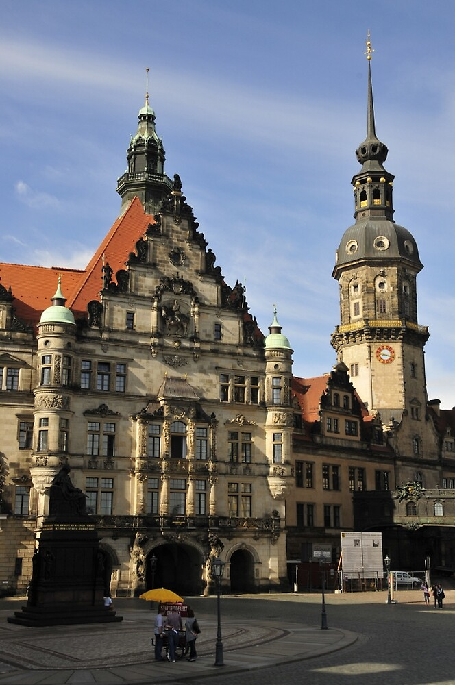 Dresden -  Catholic Church and Castle by bertspix