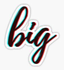 retro 3D - big Sticker