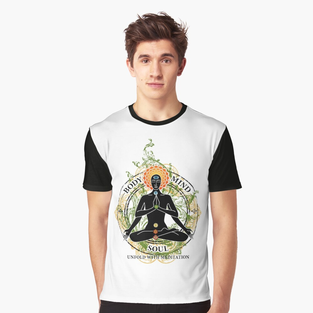 Yoga : Mind Body and Soul KUNDALINI Graphic T-Shirt Front