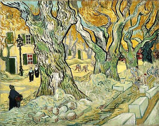 Van Gogh, The Road Menders, 1889  by fineearth