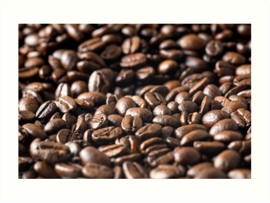 Roasted Coffee Beans Close up. by DavidMay