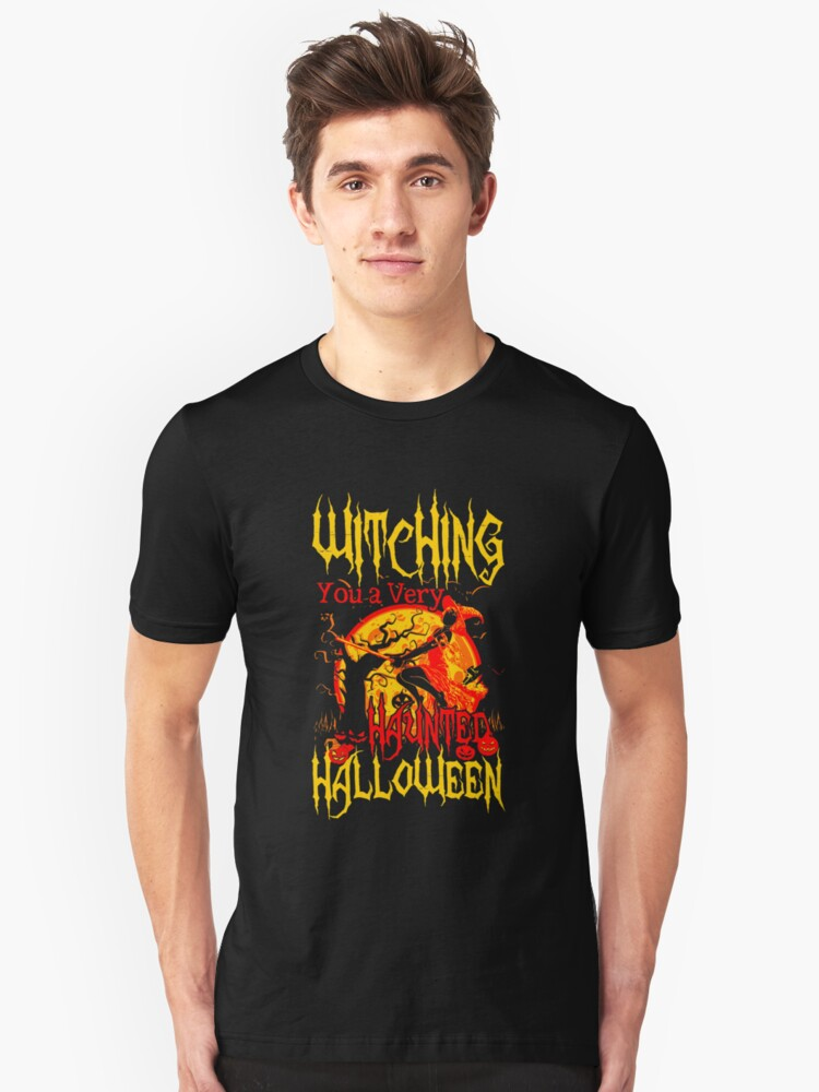 Witching you Halloween Unisex T-Shirt Front