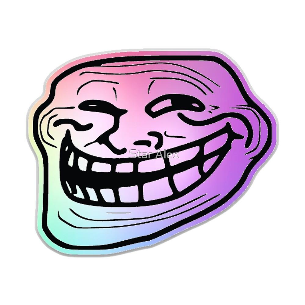 Rainbow Troll face by skash16