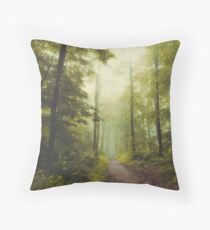 Long Forest Walk Throw Pillow