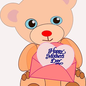Teddy with mother's day message (5817 views) by aldona